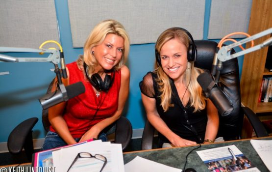 Photo of Kelly and Sheryl from their radio show.